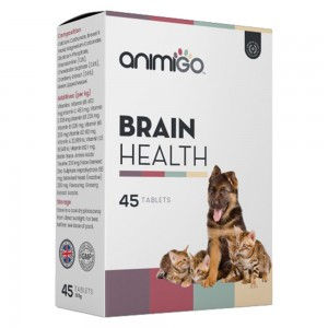Brain Health - Brain Vitality Support Supplement for Cats and Dogs - Animigo - 45 Tablets
