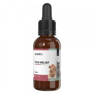 Itch Relief for Cats & Dogs - Premium Natural Allergy Aid For Pets - 50ml Liquid Drops
