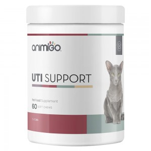 UTI Support for Cats - Natural Urinary Tract Care Soft Chew Supplement - 60 Soft Chews - Animigo